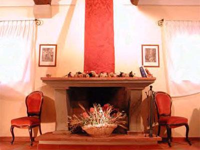 Villa Casa Paradiso Tuscany - Fireplace