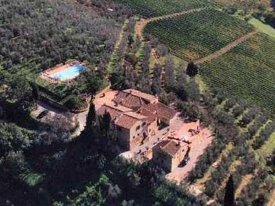 Cottage Wine Barrel Florence - Ariel View