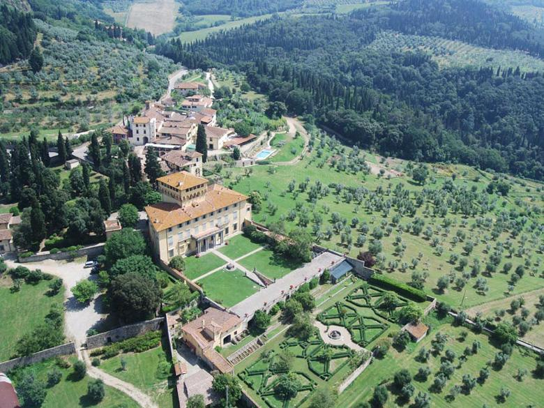 Aerial View of hte Estate in Fiesole in Florence