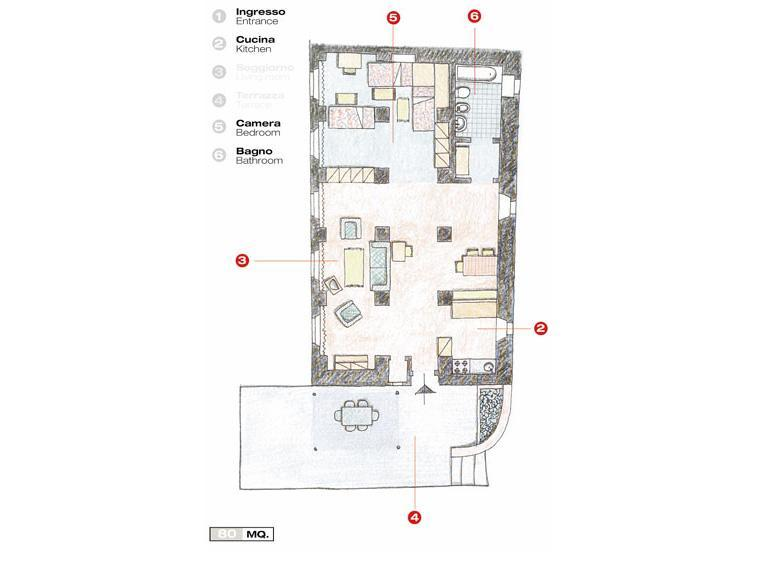 Apartment Blue Print